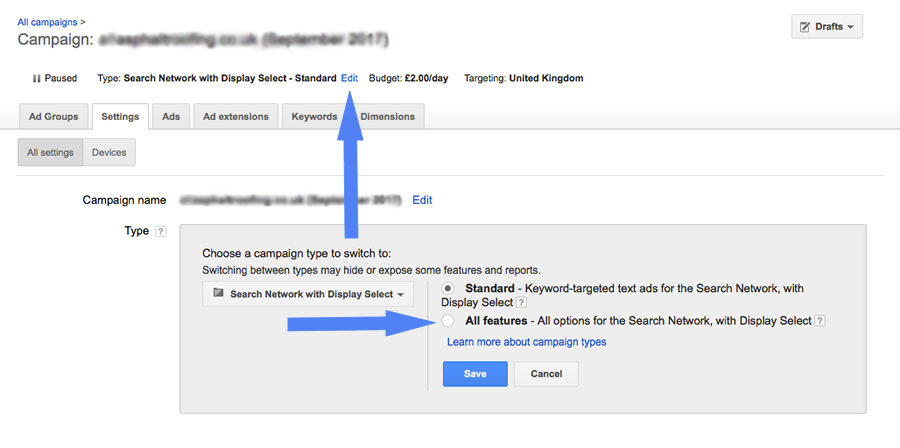 Setting an ad schedule in Google Adwords